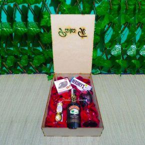 caja de madera sorpresa baileys
