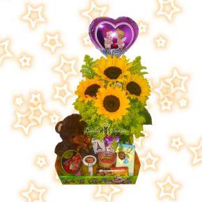 ancheta con flores