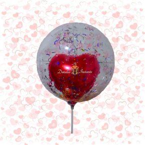 Globo Burbuja con corazón