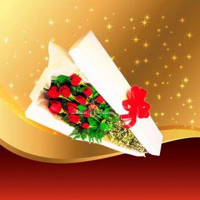Caja de rosas rojas a domicilio en Bogot