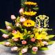 ramos de flores rosas y girasoles bogota hoy