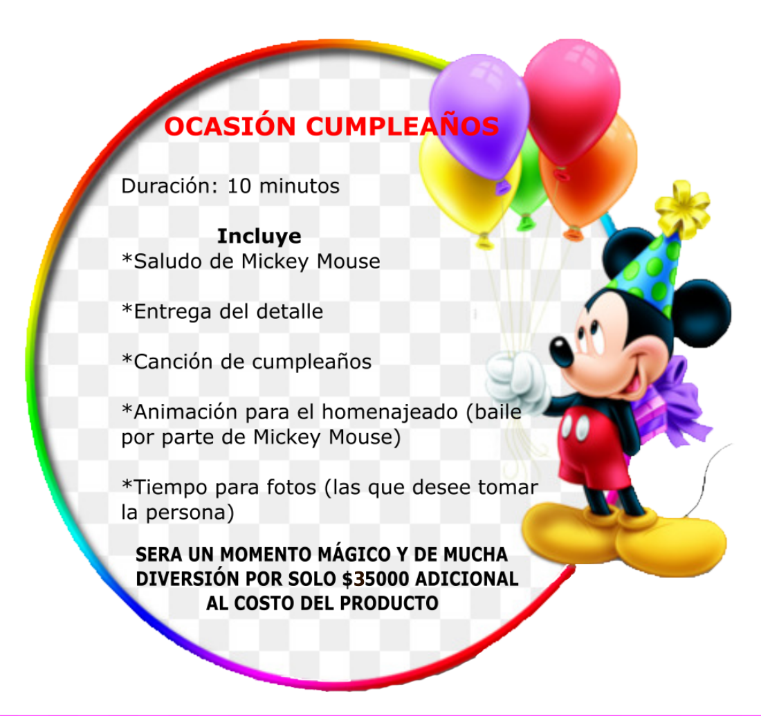 entregas mickey animación cumpleaños