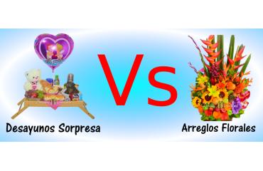 Desayunos Sorpresa vs Arreglos Florales